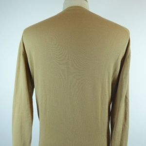 Barneys New York Sweaters - BARNEYS cotton crewneck sweater camel brown L